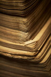 The edges of pages of old book. Stock Photos