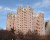 Edgewater Beach. This is a picture of the Edgewater Beach Apartments in the Edgewater neighborhood of Chicago, Illinois.  This pink structure is all that remains Royalty Free Stock Images