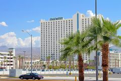 Edgewater Hotel and Casino. Laughlin, USA - August 25, 2009: The Edgewater Hotel and Casino is located in Laughlin Nevada along the Colorado River.  It opened in Stock Photo
