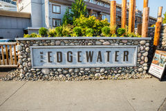 The Edgewater Hotel is located on the waterfront in Seattle Stock Images