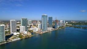 Edgewater Miami flyg- bild Fotografering för Bildbyråer