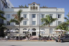 Edgewater South Beach. MIAMI - JANUARY 12: Edgewater South Beach located at 1410 Ocean Drivewas originally built in the heart of Miami Beachs burgeoning Art Deco Royalty Free Stock Photography