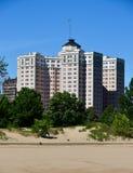 Edgewater strandlägenheter Arkivfoto