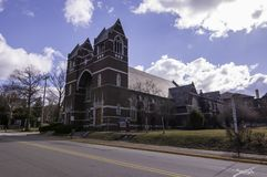 Edgewood, Pennsylvania, USA 3/17/2019 The First Presbyterian Church of Edgewood. royalty free stock photography