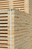 Edging board in stacks. An edging board in stacks in an industrial landscape stock photo