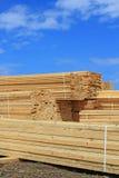 Edging board in stacks Stock Image