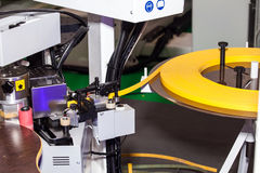 Edging machine. Equipment for complete processing of modern edging and panel materials stock photos