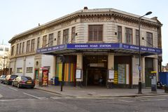Edgware Road underground station Stock Photos