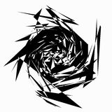 Edgy abstract geometric shape. Unusual distorted element. Geomet Royalty Free Stock Photo