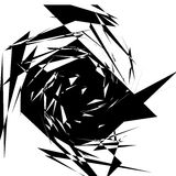 Edgy abstract geometric shape. Unusual distorted element. Geomet Stock Photography