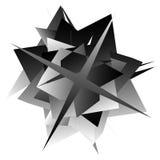 Edgy, angular geometric element. Monochrome abstract design. Royalty Free Stock Photos