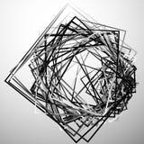 Edgy angular monochrome geometric illustration with intersecting. Random squares - Royalty free vector illustration Royalty Free Stock Photography