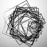 Edgy angular monochrome geometric illustration with intersecting. Random squares - Royalty free vector illustration stock illustration