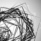 Edgy angular monochrome geometric illustration with intersecting. Random squares - Royalty free vector illustration Stock Photos