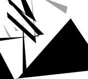 Edgy angular shapes abstract monochrome art. Geometric illustrat Stock Photo