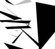 Edgy angular shapes abstract monochrome art. Geometric illustrat Royalty Free Stock Image
