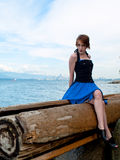 Edgy fashion model posing Royalty Free Stock Photo