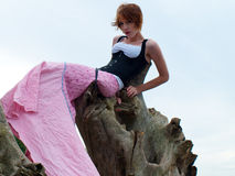 Edgy fashion model posing Royalty Free Stock Photos