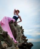 Edgy fashion model posing Stock Images