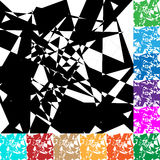 Edgy geometric vector texture / pattern in 12 color. Royalty free vector illustration Royalty Free Stock Images