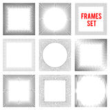 Edgy lines frames background set style vector illustration. Edgy lines frames background set and style vector illustration Stock Photography