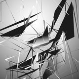 Edgy monochrome illustration with geometric shapes. Abstract geo royalty free illustration