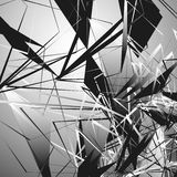 Edgy monochrome illustration with geometric shapes. Abstract geo Royalty Free Stock Photo