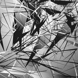 Edgy monochrome illustration with geometric shapes. Abstract geo Stock Photo