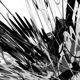 Edgy, rough geometric pattern. Irregular, chaotic random shapes. Royalty Free Stock Image