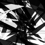 Edgy, rough geometric pattern. Irregular, chaotic random shapes. Abstract black and white element - Royalty free vector illustration Royalty Free Stock Image
