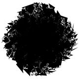 Edgy rough intersecting monochrome shape isolated on white. Abst Royalty Free Stock Photos