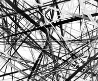 Edgy texture with chaotic, random lines. Abstract geometric illu Stock Photos