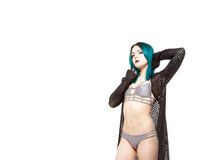 Edgy Young Female In Bikini Royalty Free Stock Photos