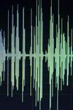 Edição audio do estúdio da onda sadia Imagens de Stock Royalty Free