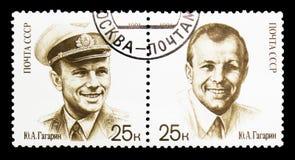 Edição comum Y Gagarin, 30o aniversário do primeiro homem no espaço s Foto de Stock