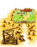 Edição de registro envoronmental do desflorestamento fotos de stock