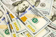 Edição nova 100 cédulas do dólar, dinheiro para a propriedade e riqueza Imagem de Stock Royalty Free