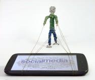 Edição social dos meios Fotos de Stock