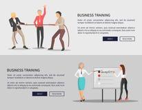 Edições da competição dos cartazes da Web do treinamento do negócio ilustração do vetor