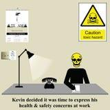 Edições de saúde e de segurança no trabalho ilustração do vetor