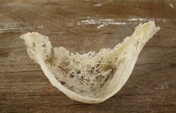 Edible bird's nest. On wooden background Royalty Free Stock Photo