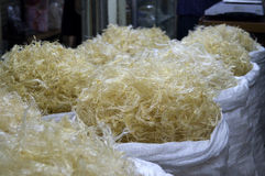 Edible Bird's Nests at the Jakarta Market Stock Images