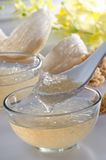 Edible Birdnest. With brown rock sugar and chinese herbs Stock Photography