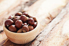 Edible chestnuts Stock Photos