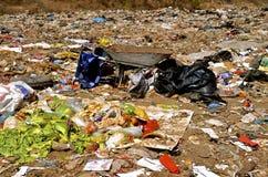 Edible food left in a city dump Stock Photos