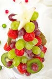 Edible Fruit Christmas Tree Stock Photos