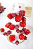 Edible Fruit Christmas Tree, step 2 Royalty Free Stock Image