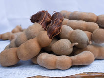 Tamarind fruits. The edible fruits with sweet and sour in taste Stock Photo