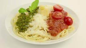 Edible Italian flag stock video footage