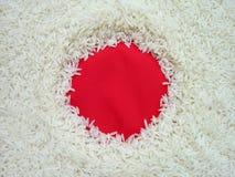 Edible Japan flag. Japan flag made with rice stock image